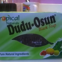 This is black soap I use on my skin. One of my favorites.