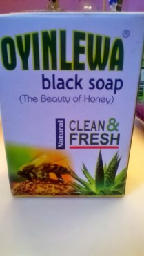 Jessica got some black soap