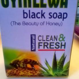 Jessica got some black soap